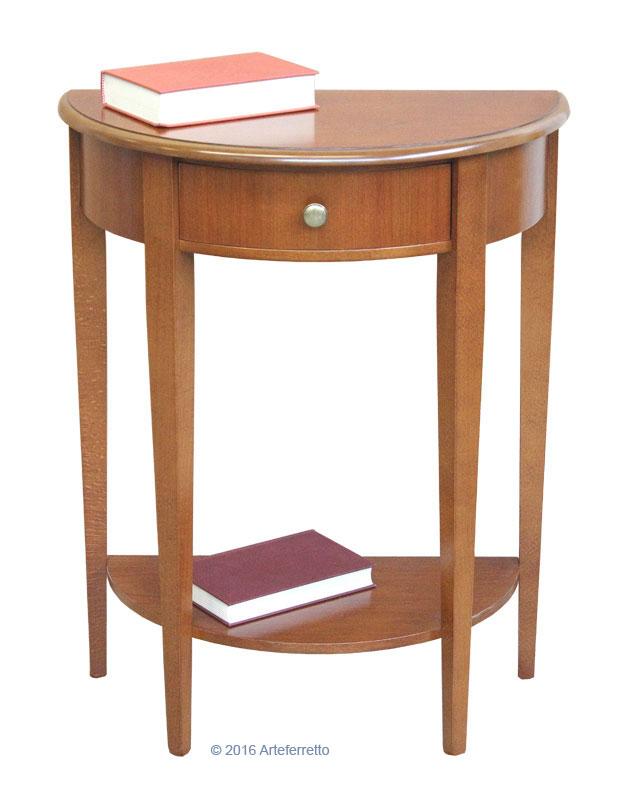 konsolentisch halbrund mit schubkasten ebay. Black Bedroom Furniture Sets. Home Design Ideas