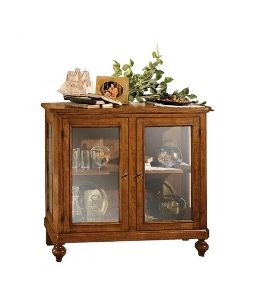 Beliebt Kleine Vitrine 2 Türen aus Holz und Glas - Frank Möbel LZ11