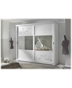 Schrank 2 Schiebetüren, Schrank Türen mit Spiegel
