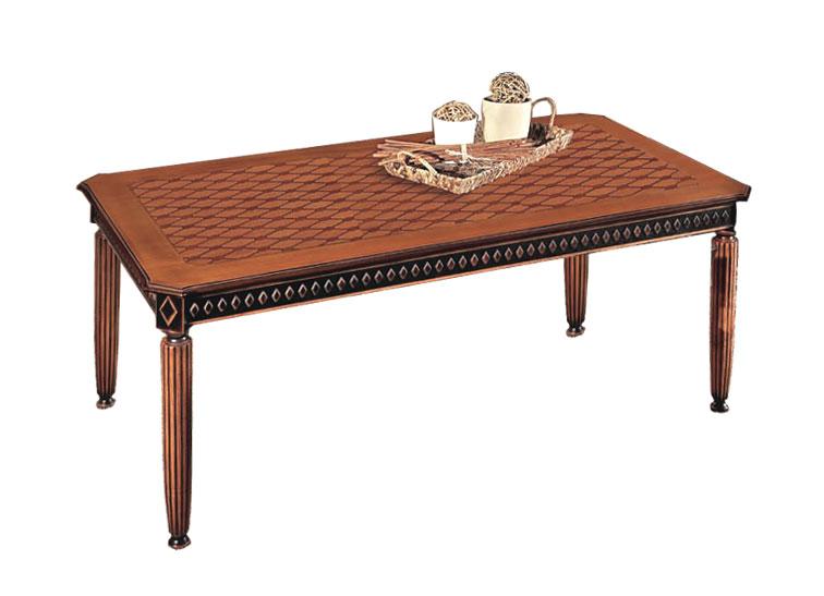 tisch 100 x 90 cm schwarz und kirschholz mit intarsien made in italy ebay. Black Bedroom Furniture Sets. Home Design Ideas