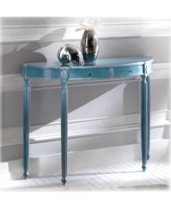 Konsoltisch Silber Blau