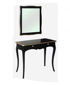 konsolentisch mit spiegel blattgold. Black Bedroom Furniture Sets. Home Design Ideas