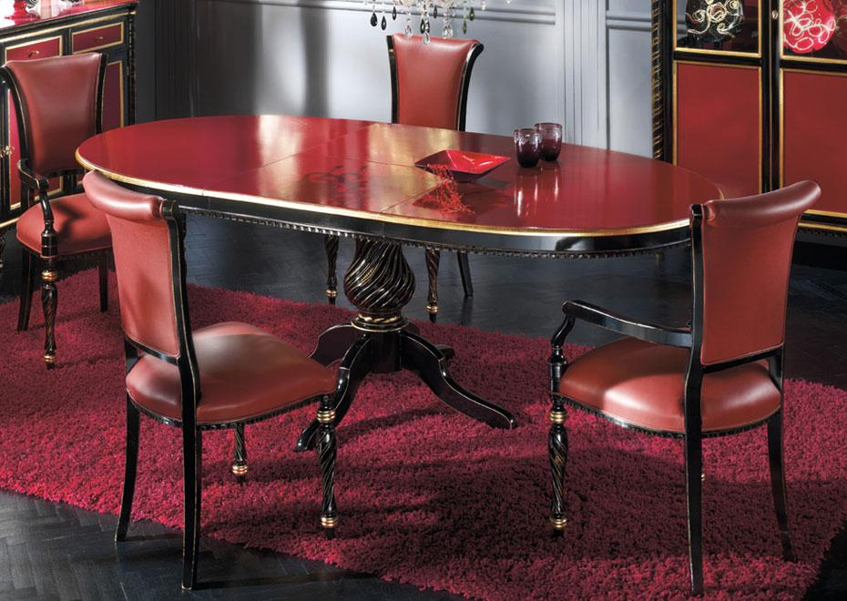 ovaler tisch black gold und bordeaux 160 200 cm frank m bel. Black Bedroom Furniture Sets. Home Design Ideas