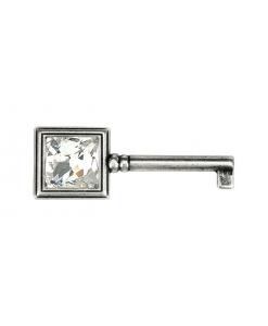 Schlüssel Swarovski Silber antik