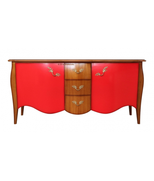sideboard kirschholz und rot frank m bel. Black Bedroom Furniture Sets. Home Design Ideas