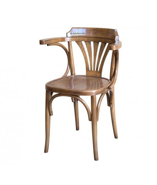 Stuhl Design Holzsitz aus Buchenholz, Art.-Nr, FR-125B
