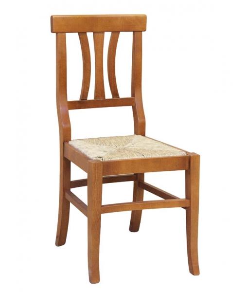 Stuhl mit strohsitz f r jeden tag frank m bel for Esszimmer kirschholz