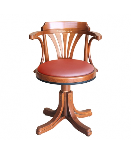 Drehstuhl mit Polstersitz, Drehstuhl ohne Rollen, Drehstuhl, Stuhl drehbar