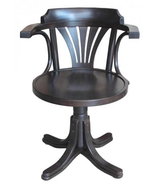 Poltroncina girevole con seduta in legno Wengé, cod. articolo: FR-839