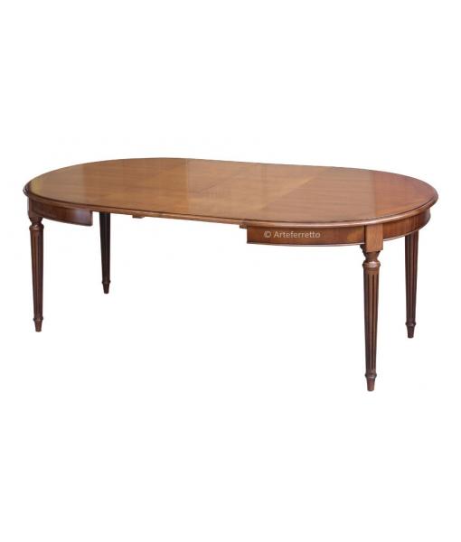 ovaler tisch sehr elegant 130 210 cm frank m bel. Black Bedroom Furniture Sets. Home Design Ideas