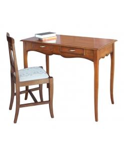 Schreibtisch mit Zusatzplatte, Schreibtisch