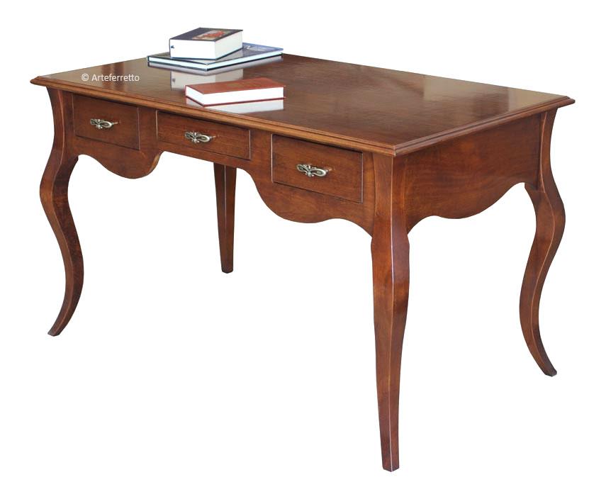 Schreibtisch 150 cm b ro arbeitszimmer mit holzplatte aus for Schreibtisch 150