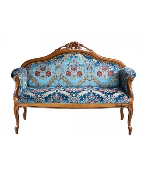 Sofa 2 Sitze Fleur Klassischer Stil, Art.-Nr.: GM-180