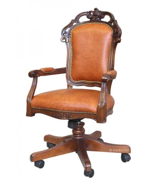 Sessel für Büro mit Rollen drehbar, Art.-Nr.: GM-1BUL
