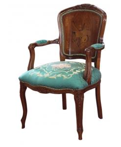 Armlehnstuhl mit Intarsie, Eleganter Stuhl