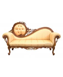 Sofa 3 Sitzplätze, Elegantes Sofa, Sofa mit Schnitzarbeit