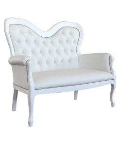 Sofa weiß, Sofa Kunstleder, Sofa 2 Sitze