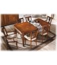 Esstisch mit Intarsie, rechteckiger Tisch