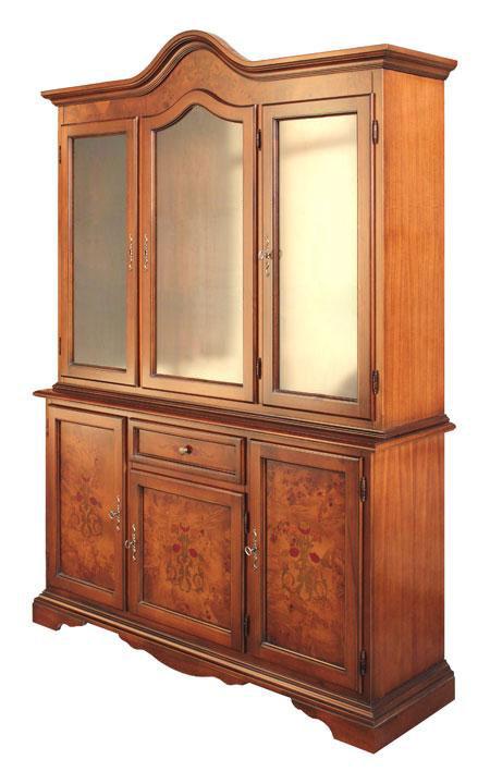glasschrank mit wurzelholz und intarsie frank m bel. Black Bedroom Furniture Sets. Home Design Ideas