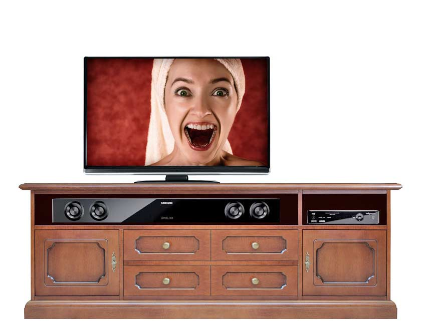tv lowboard soundbar h 58 cm 8052740979223 ebay. Black Bedroom Furniture Sets. Home Design Ideas