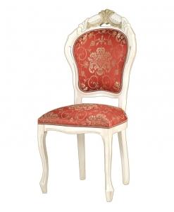 Stuhl Blattgold, Stuhl mit Schnitzarbeit