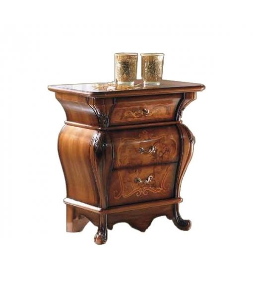 Nachttisch sehr elegant mit Intarsie Schlafzimmer