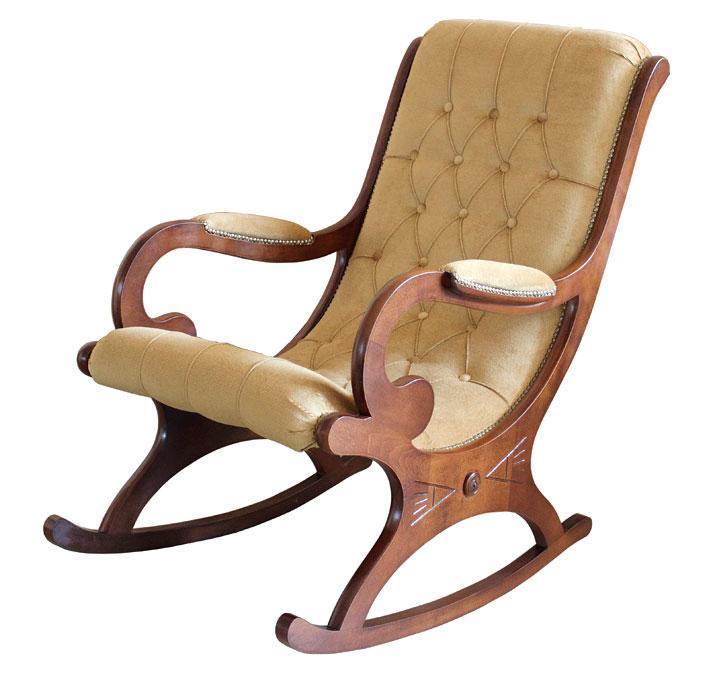 Schaukelstuhl mit velours oder stoff frank m bel for Schaukelstuhl stoff