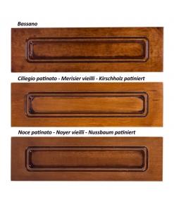 Farbmuster, Kirschholz, Nussbaum, Bassano