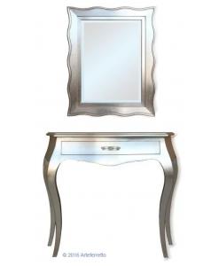 Spiegel und Konsolentisch, Blattsilber