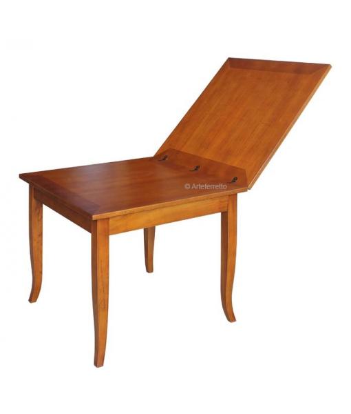 Öffnung der quadratische Tischplatte als Buch