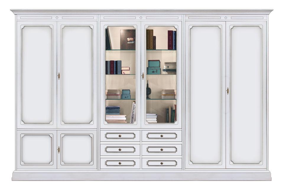wohnwand 3 m mit t ren und schubladen schnelle montage neu made in italy ebay. Black Bedroom Furniture Sets. Home Design Ideas