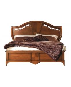 Doppelbett mit Intarsie, Doppelbett mit Einlegearbeit