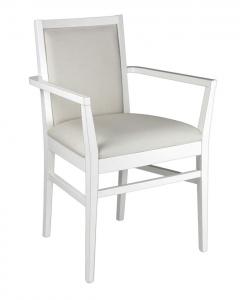Sedia capotavola bianca sala da pranzo