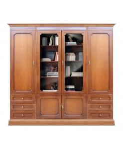 Wohnwand mit Schubkästen, Bücherschrank