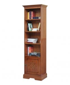 Bücherschrank mit Dekor, Bücherschrank Holzgravur