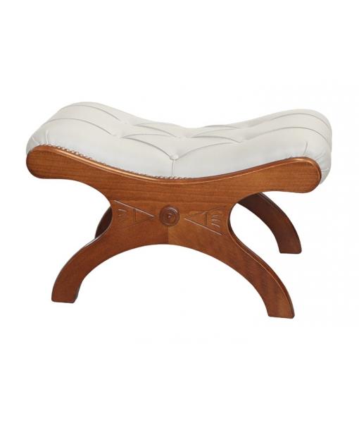 fu hocker gepolstert klassisch frank m bel. Black Bedroom Furniture Sets. Home Design Ideas