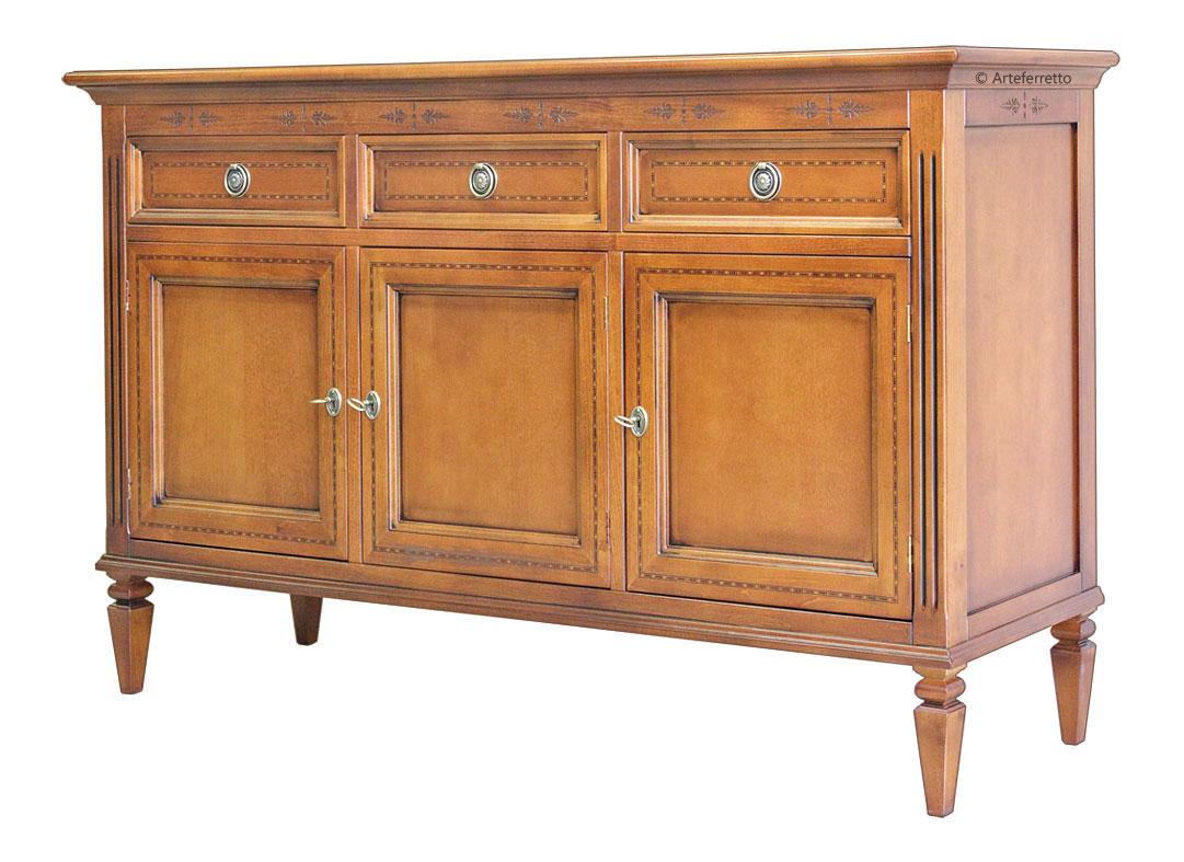 Sideboard mit intarsie klassisch frank m bel for Sideboard niedrig