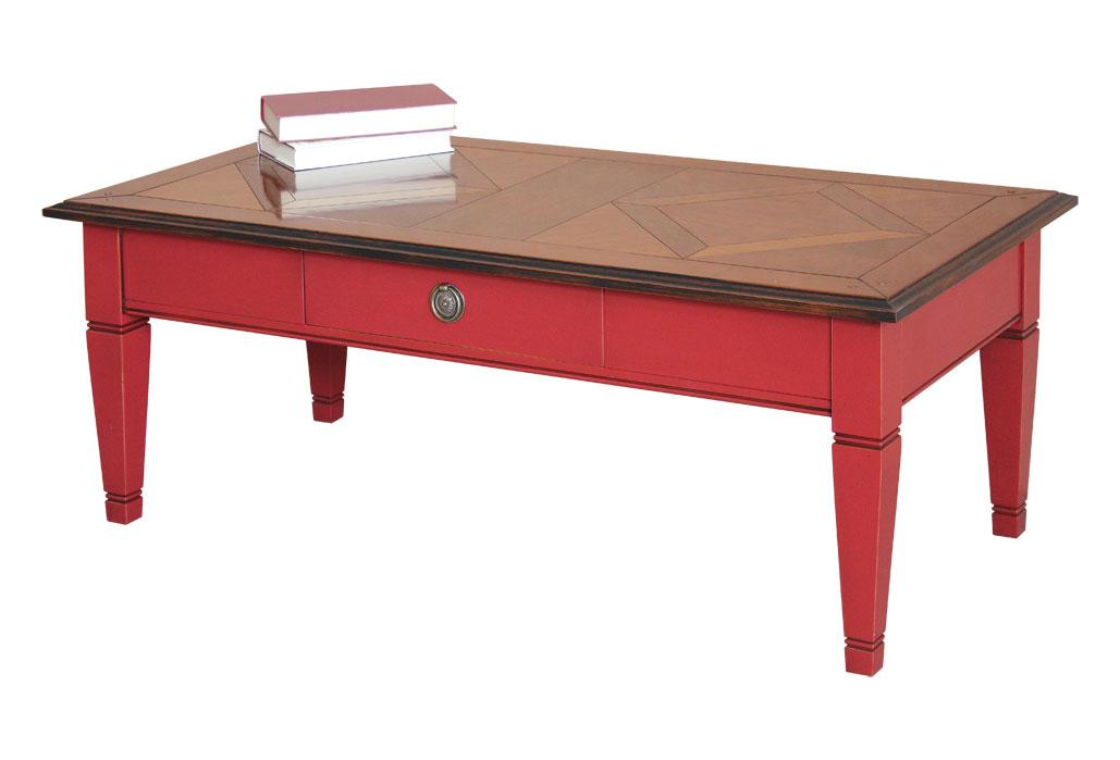 Couchtisch rechteckiger rot frank m bel - Couchtisch rot ...