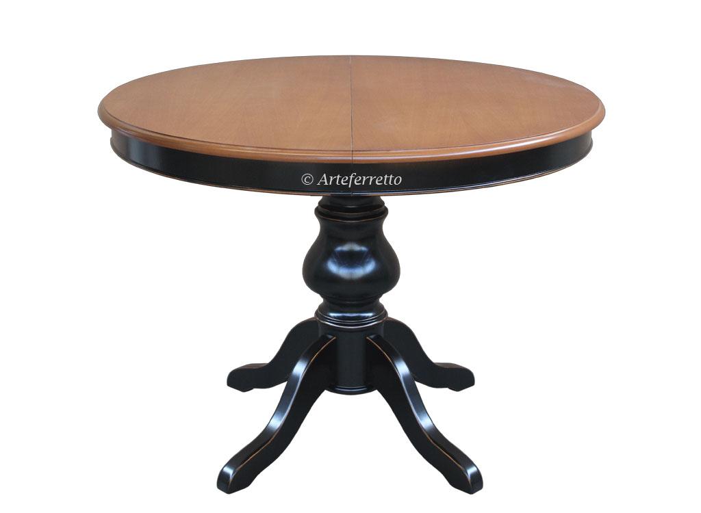 tisch rund 110 cm ausziehbar 2 farben frank m bel. Black Bedroom Furniture Sets. Home Design Ideas