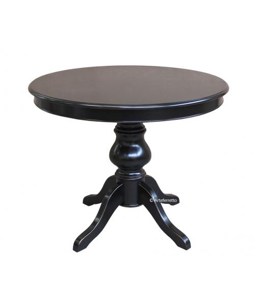 Schwarzer Tisch 100 cm 446-N-100