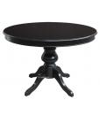 Schwarzer Tisch 120 cm, Runder Tisch schwarz, Runder Tisch