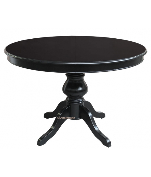 schwarzer tisch 110 cm rund louis philippe frank m bel. Black Bedroom Furniture Sets. Home Design Ideas