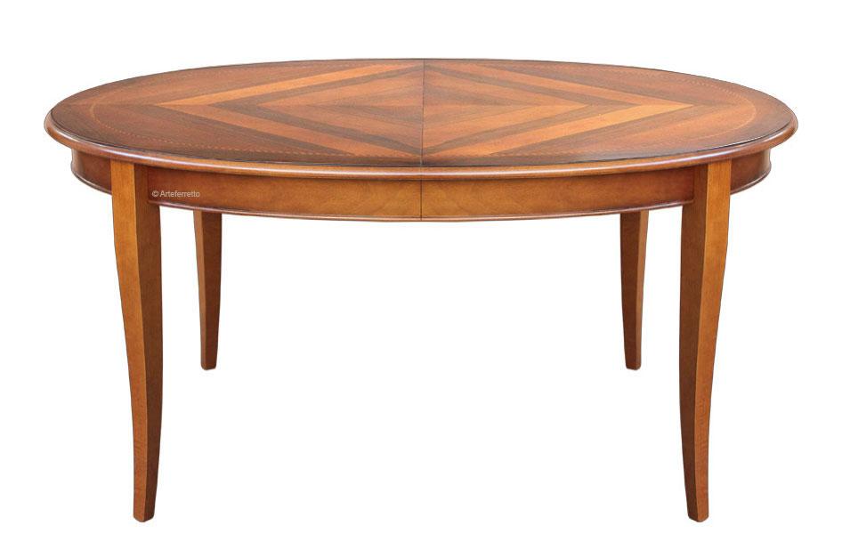 Esstisch Oval Mit Intarsie 160 Cm Frank Möbel