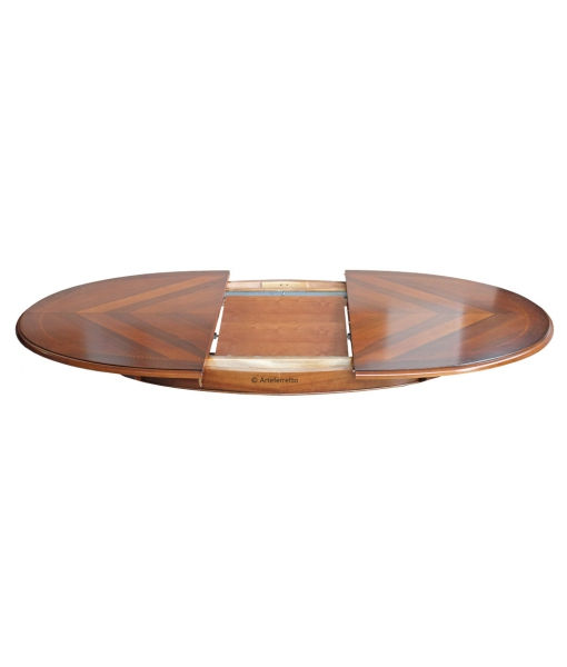 Esstisch oval mit Intarsie 160 cm