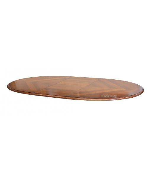Tischplatte mit Intarsie 210 x 110 cm
