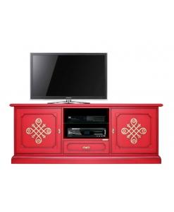 Rotes TV-Lowboard