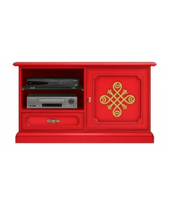 Rotes Möbel TV, TV-Möbel