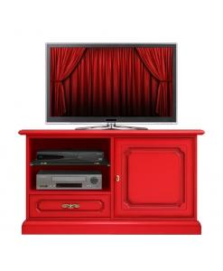 Rotes TV-Möbel, TV-Möbel rot