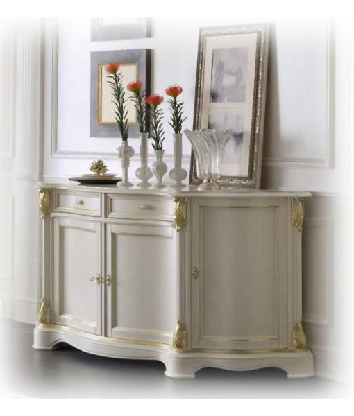 anrichte white gold klassik frank m bel. Black Bedroom Furniture Sets. Home Design Ideas