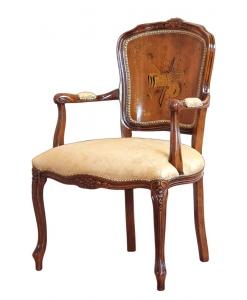 Sessel mit Holzrücklehne, Sessel